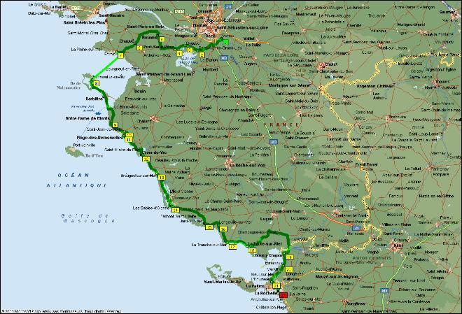Carte Loire Atlantique Vendee.Veleau Velo Au Fil De L Eau